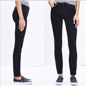 Madewell Highrise Skinny Jeans In Black Frost
